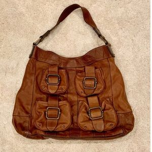 Banana Republic leather luggage purse